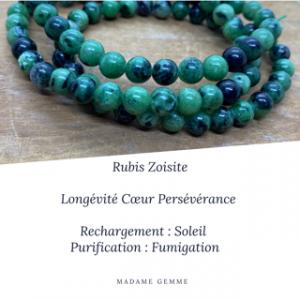 Bracelet Rubis Zoisite