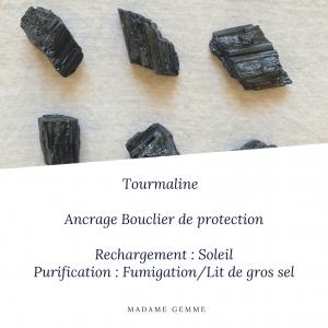 Pierre roulée Tourmaline noire