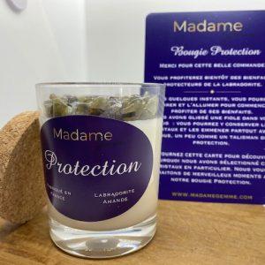 Bougie Protection parfum Amande et Labradorite