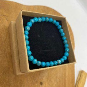 Bracelet Turquoise naturelles 6mm